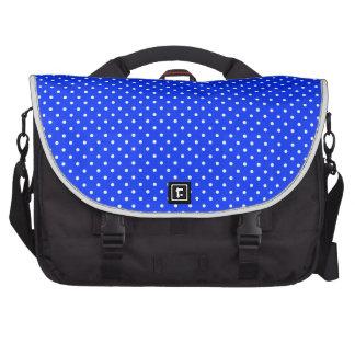 Y-Blanco-Polca-Puntos de la Azul-Luz Bolsa Para Ordenador