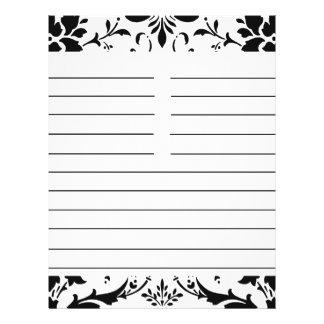Y blanco receta a juego personalizada damasco negr folleto 21,6 x 28 cm