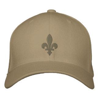 Y de color caqui gorra bordado flor de lis sabia gorra bordada