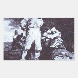 Y no puede ser cambiado por Francisco Goya Pegatina Rectangular