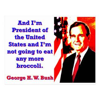 Y soy presidente - George H W Bush Postal