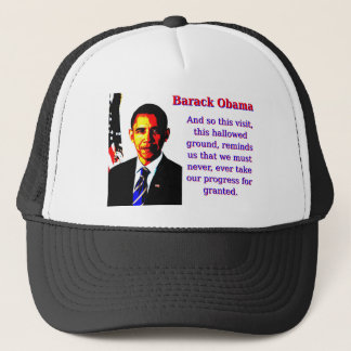 Y tan esta visita - Barack Obama Gorra De Camionero