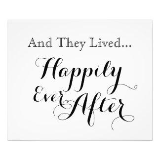 Y vivieron feliz nunca después de la impresión fotografías