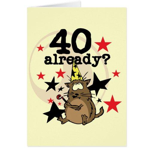 Ya cumpleaños 40 tarjeton