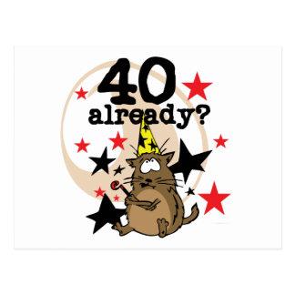 Ya cumpleaños 40 postal