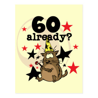 Ya cumpleaños 60 postal
