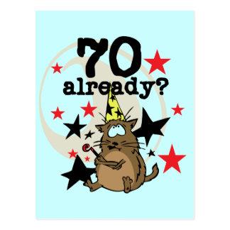 Ya cumpleaños 70 postal
