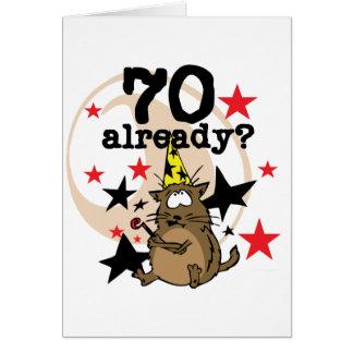 Ya cumpleaños 70 tarjeta de felicitación