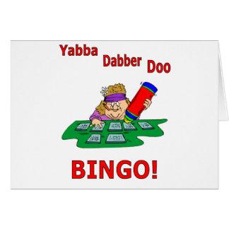 Yabba Dabber Doo - BINGO Tarjeta De Felicitación