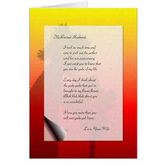 Yacs divertidos de Yada de la letra de amor del an Tarjeta De Felicitación