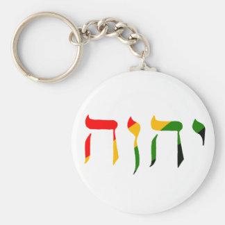 Yahweh en hebreo llavero redondo tipo chapa