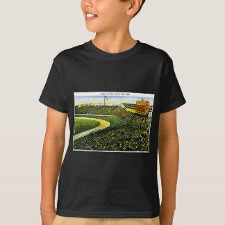 Yankee Stadium, Bronx, postal del vintage de Nueva Camisetas