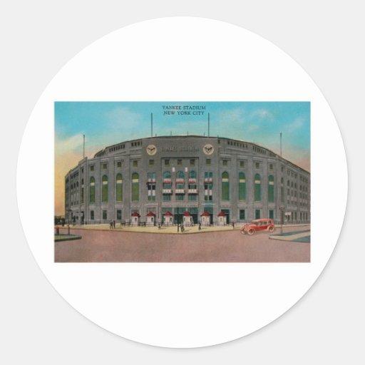 Yankee Stadium, New York City Pegatinas Redondas