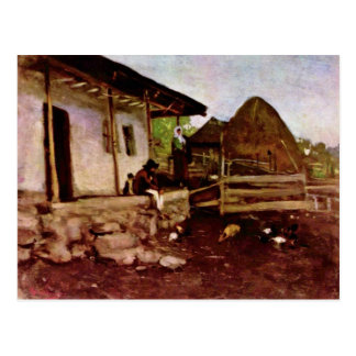 Yarda de un cortijo de Grigorescu Nicolae Tarjetas Postales