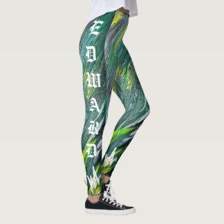 Yarda irlandesa con las polainas de la firma de leggings