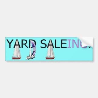 ¡Yarda Saleing Pegatina De Parachoque