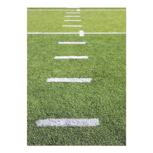 Yardlines en campo de fútbol comunicados personalizados
