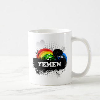 Yemen con sabor a fruta lindo taza de café