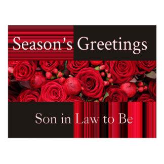 yerno a ser tarjeta de las Felices Navidad Postal