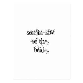 Yerno de la novia postal