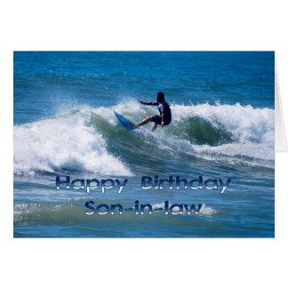 Yerno del feliz cumpleaños de la persona que tarjeta de felicitación