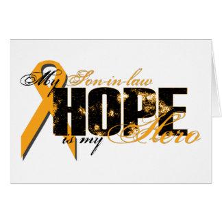 Yerno mi héroe - esperanza de la leucemia felicitacion