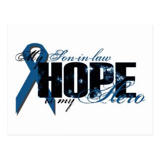 Yerno mi héroe - esperanza del cáncer de colon postal
