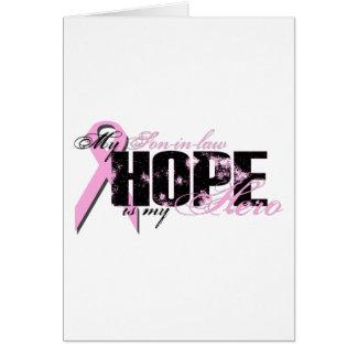 Yerno mi héroe - esperanza del cáncer de pecho felicitacion