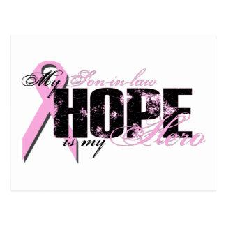 Yerno mi héroe - esperanza del cáncer de pecho postal