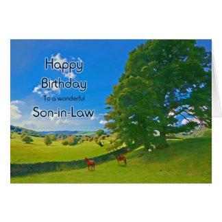Yerno, una tarjeta de cumpleaños pastoral del
