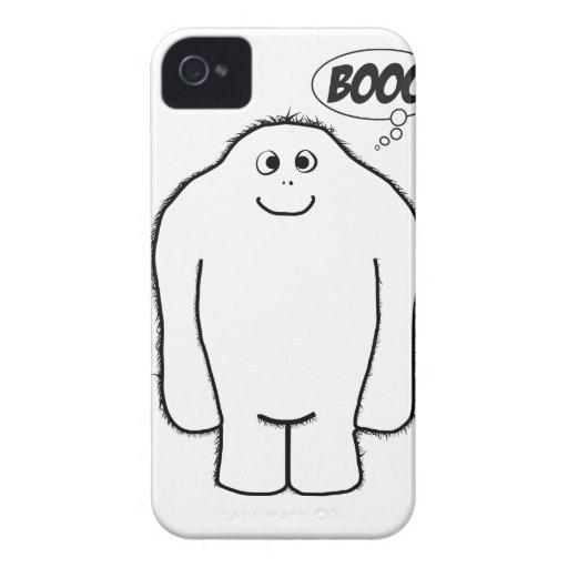 Yeti desagradable divertido Case-Mate iPhone 4 carcasas
