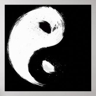 """Yin 24"""" x 24"""", papel de poster del valor (mate)"""