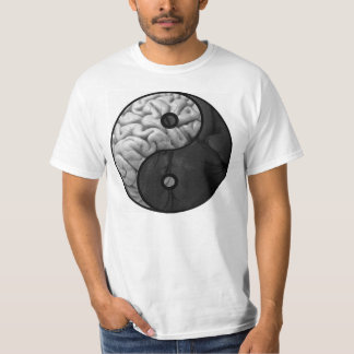 Yin y Yang. Cabeza y corazón Camisetas
