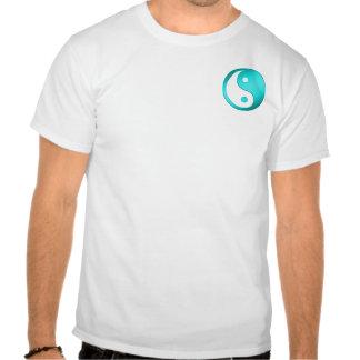 Yin-Yang, bolsillo, azul y blanco Camiseta
