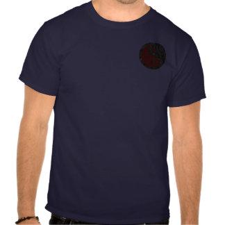 Yin-Yang, bolsillo, camo y rojo Camisetas