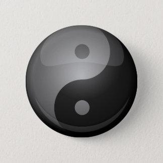 Yin yang chapa redonda de 5 cm