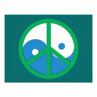 Yin-Yang con el signo de la paz Invitaciones Personalizada