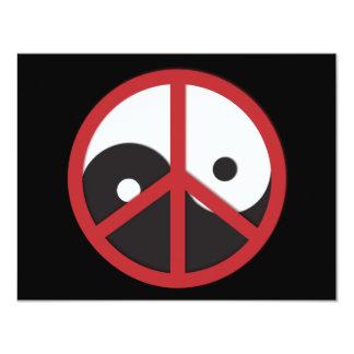 Yin-Yang con el signo de la paz - rojo Anuncios