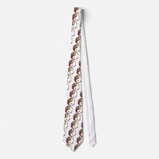 Yin Yang - diseño rojo de la chispa Corbata Personalizada