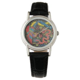 Yin Yang Phoenix y reloj del dragón