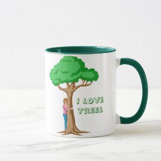 Yo árboles de amor taza