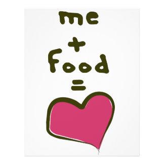 Yo + Comida = amor Flyer Personalizado