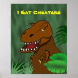 Yo como la sala de clase de la escuela del dinosau impresiones