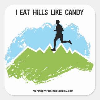 ¡Yo como las colinas como el caramelo! Pegatina