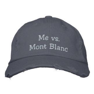 Yo contra el gorra del lema de Mont Blanc