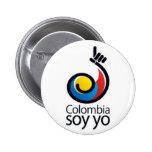 Yo de la soja de Colombia Chapa Redonda De 5 Cm
