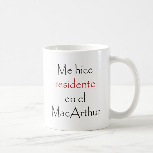 Yo EL MacArthur del En de Hice Residente Tazas De Café