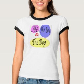 Yo el muchacho y el perro camiseta