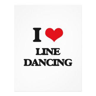 Yo línea de amor baile folleto 21,6 x 28 cm