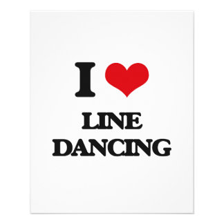 Yo línea de amor baile folleto 11,4 x 14,2 cm